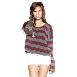 SALE‼️ Brandy Melville Dark American Flag Sweater
